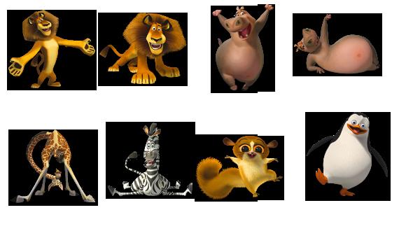 Мадагаскар животные рисунки